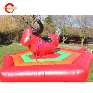free air shipping to door,2018 Amusement park games inflatable rodeo riding kids bull bucking bronco sprot game for sale