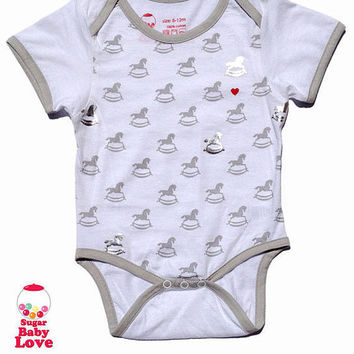 Rocking Horse Cotton Onesuit