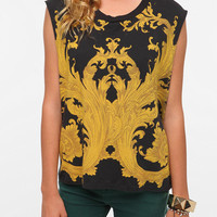 Urban Outfitters - Truly Madly Deeply Scroll Muscle Tee