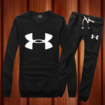 ONETOW Under Armour Woman Men Long Sleeve Shirt Top Tee Pants Trousers Set Two-Piece Sportswear