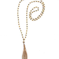 Eye of the Tiger Tassel Necklace