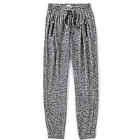 GB Girls 7-16 Space Dyed Zip-Pocket Sweatpant - Silver