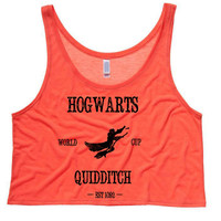 Harry Potter Hogwarts Cropped Tank Top