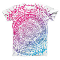 The Ethnic Indian Tie-Dye Circle ink-Fuzed Unisex All Over Full-Printed Fitted Tee Shirt