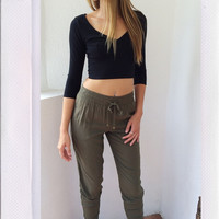 Blending In Pants- Olive