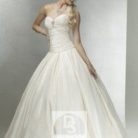 Ball Gown Sweetheart Rhinestone Taffeta Sweep Train Wedding Dress at Dresseshop