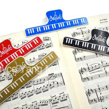Niko Music Book Note Paper Ruler Sheet Music Spring Clip Holder For Piano Guitar Violin Viola Cello Performance Practice