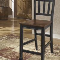 0-029059>Owingsville Set of 2 Dining Chairs Black/Brown