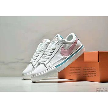 NIKE BLAZER LOW SD Classic Trailblazer Low Help White Shoes Sneakers Casual Shoes white+pink hook