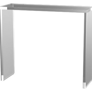 "Console Parker 48"" Acrylic  Table, Clear, Acrylic / Lucite, Console Table"