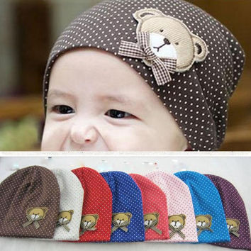 Unisex Baby Cotton Bear Hat