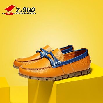 ZSUO ZS672J Moccasins male summer pu leather casual shoes. breathable foot wrapping leather shoes