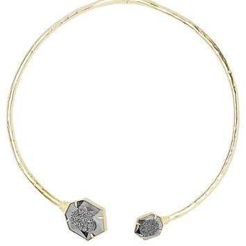 KENDRA SCOTT - Coursen Hinge Necklace in Platinum Window Drusy