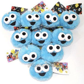 ESBON Sesame Street ELMO COOKIE MONSTER Mini Plush Pendant Toys Soft Stuffed Dolls 10pcs/lot