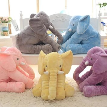 Large Plush Elephant Toy, Plush Soft Toy Stuffed Animal Elephant Pillow For Baby & Kids Sleeping Toys For Child Baby Calm Doll