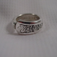 A Spoon Rings Plus Beautiful Spoon Ring Size 4 1/2 Vintage Antique Spoon Jewelry t225