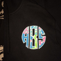 Lilly 1/4 zip monogram sweatshirt