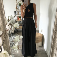 The Chloe Trousers - Black | OHM BOUTIQUE