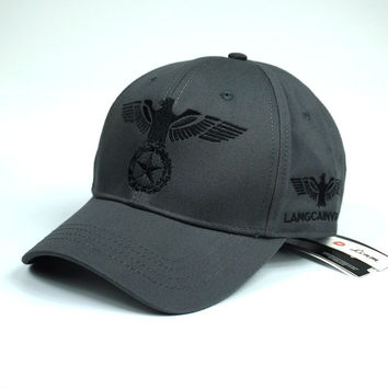 Gray Eagle Star Embroidered Baseball Cap Hat