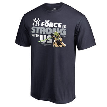 New York Yankees Fanatics Branded Star Wars Jedi Strong T-Shirt - Navy