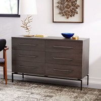 Nash 6-Drawer Dresser - Mineral