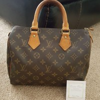 authentic Louis Vuitton vintage Monogram Speedy 25 bag