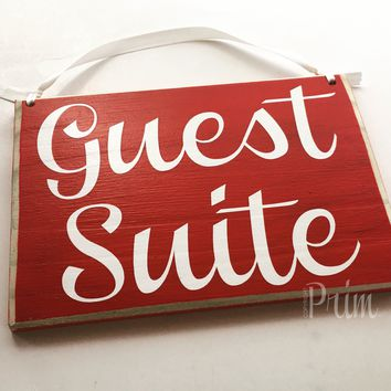 8x6 Guest Suite Wood Sign