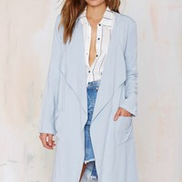 Rain or Shine Trench Coat - Blue