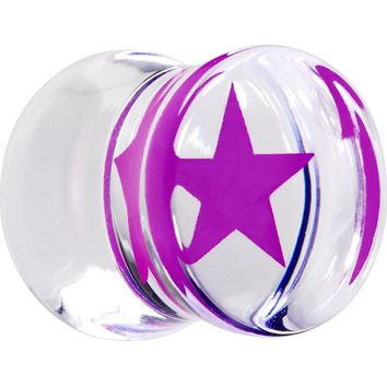 "1/2"" Rave Purple Star Inlay Acrylic Saddle Plug"