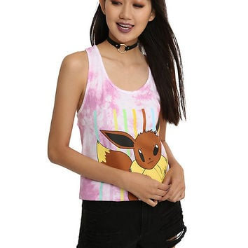 Pokemon Eevee Tie Dye Girls Tank Top