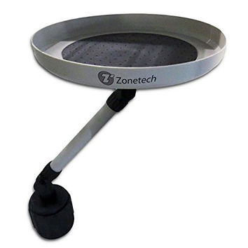 Zone Tech Car Swivel Tray and Storage Bin - Premium Quality 360-Degree Swivel Tray and Storage Bin Fits Most Car Cup Holder