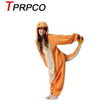TPRPCO Pop anime  Charizard jumpsuit Pajamas pyjamas costume charmander fire dragon Adult Unisex Onesuit Party NL183Kawaii Pokemon go  AT_89_9