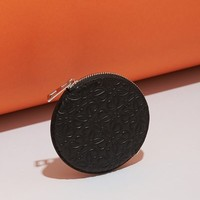 Loewe Engraved Leather Round Coin Purse - WOMEN - JUST IN - Loewe - OPENING CEREMONY