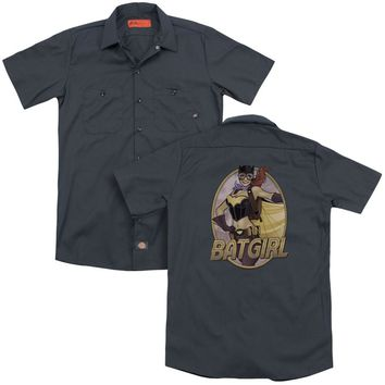 Jla - Batgirl Bombshell(Back Print) Adult Work Shirt