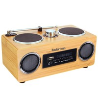 Koolertron Hand-made Mini Portable Bamboo Boombox