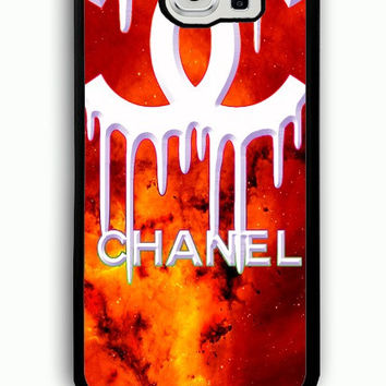 Samsung Galaxy S6 Case - Rubber (TPU) Cover with Coco Chanel Logo on Galaxy Rubber case Design
