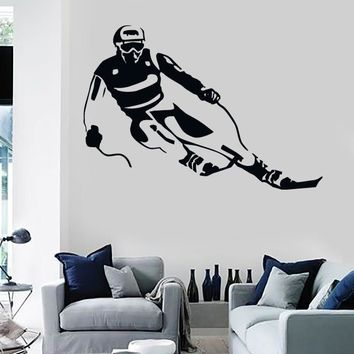Wall Stickers Vinyl Decal Ski Winter Sport Skier Extreme Living Room (z1630)