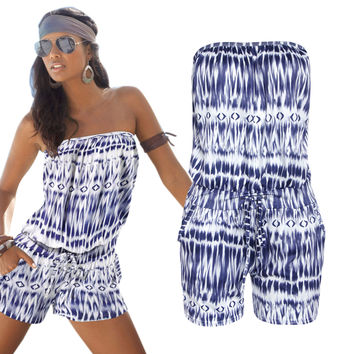 Summer Stylish Bra Print Jumpsuit [5024139140]