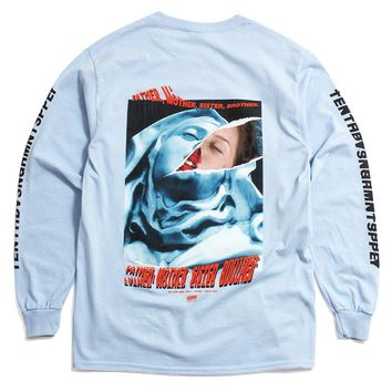 La Madonna Longsleeve T-Shirt Light Blue