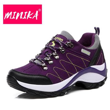 MINIKA High Quality Platform Sneakers Women Free Shipping Durable Women Flat Shoes Spring & Autumn Lace Up Sneakers Women