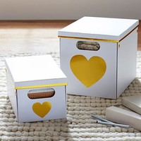 Heart Printed Storage Bins