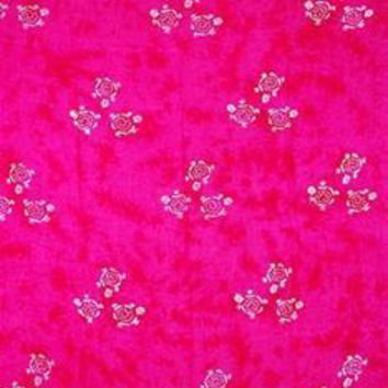 Pink Batik Sarong with Turtles