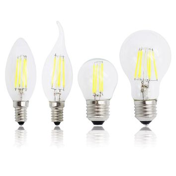 E27 E14 Candle Light Antique Retro Edison Glass 220V LED Filament Dimmable Bulb Replace 20W 30W 50W Incandescent Lamp Chandelier