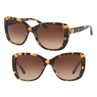 Tory Burch 53mm Gradient Rectangle Sunglasses | Nordstrom