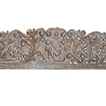 Vintage Carving Headboard Handcarved Kamasutra Love Hymn To Joy Of Life Interior Design