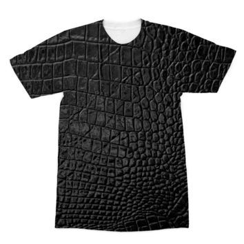 Black Alligator Scale skin American Apparel Sublimation T-Shirt