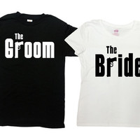 Matching Bride And Groom Shirts Wedding Gifts Mr And Mrs T Shirts Couple TShirts Honeymoon Shirts Husband And Wife His And Hers SA312-670