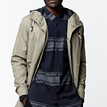 Lira Factor Longline Jacket - Mens Jacket - Green