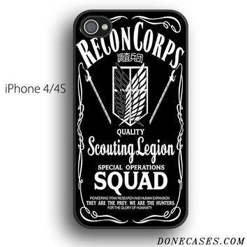 recon corps attack of titan case for iPhone 4[S]