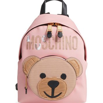 Moschino Cardboard Bear Leather Backpack | Nordstrom